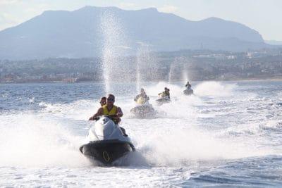 Organise a jet ski safari to explore the coast.